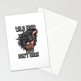 Alpaca Wild Hair Don't Care Funny Llama Lover Gift    Stationery Cards