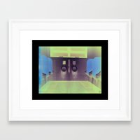 toilet Framed Art Prints featuring public toilet by Y.A.S.