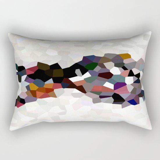 Geometric Anatomy Rectangular Pillow