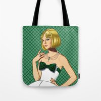 emerald Tote Bags featuring Emerald by Tom Tierney Studios