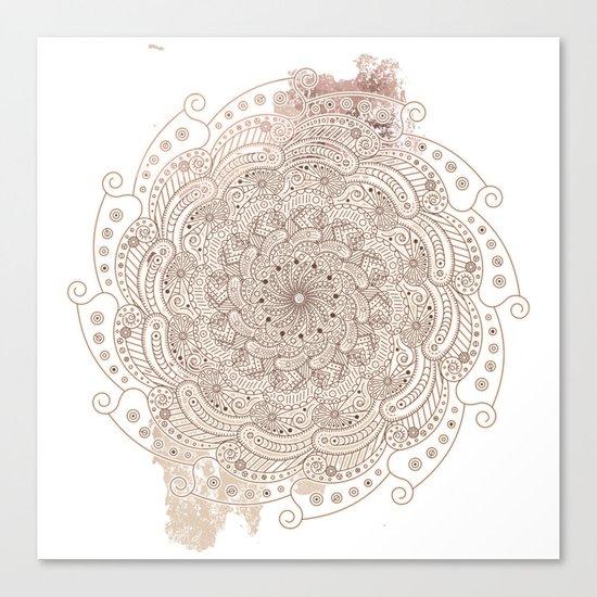 Round ornament Canvas Print