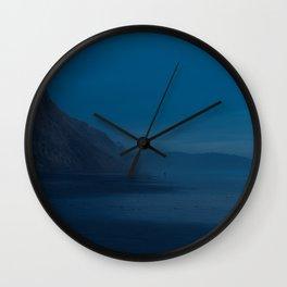 Black's Beach at Dusk Wall Clock