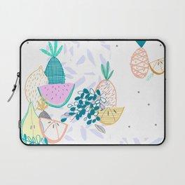 Fruiti tutti. Fruit, illustration, pattern, print, pineapple,  Laptop Sleeve