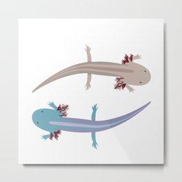 Axolotls Metal Print