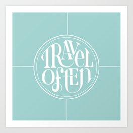 Travel with Teal Art Print