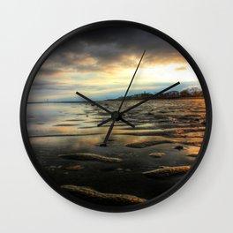 East Beach Sunset Wall Clock