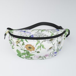 Beautiful pattern with summer meadow flowers Fanny Pack