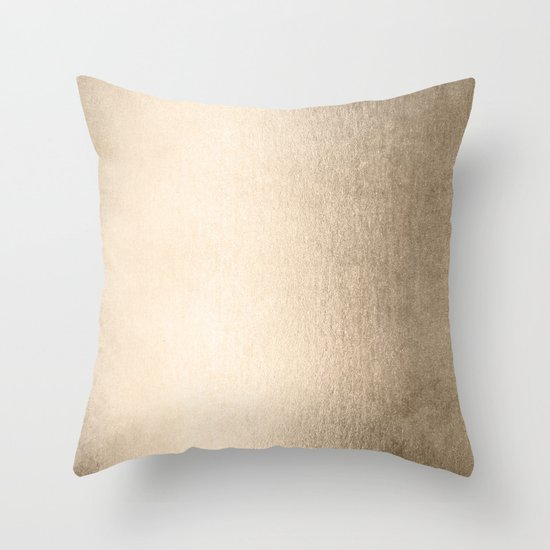 White Gold Throw Pillow : White Gold Sands Throw Pillow by Simple Luxe Society6