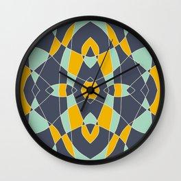 Abstrace Retro Colored Mandala Wall Clock