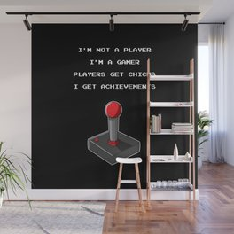 Funny Gamer Achievement Player Wall Mural