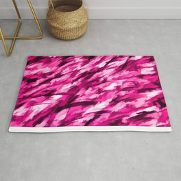 Hot Pink Designer Camo Rug