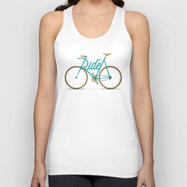 Ride Typo-Bike Unisex Tank Top