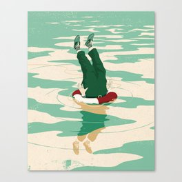 When helping goes bad Canvas Print