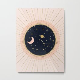 Love in Space Metal Print