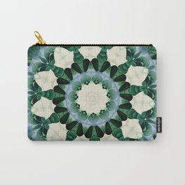 Sacramento Green and Cerulean Blue Mandala Carry-All Pouch