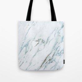 Classic White Marble Tote Bag