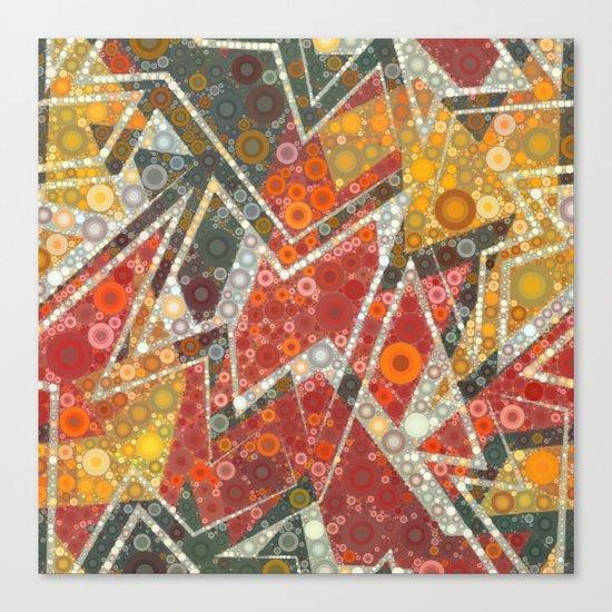 Terracotta Bubbles Canvas Print