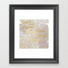 K&G 2 Framed Art Print