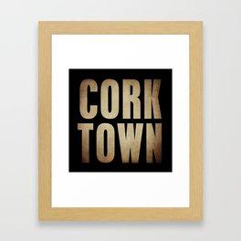 CORK TOWN  Framed Art Print