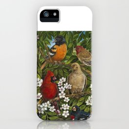 Garden Birds iPhone Case