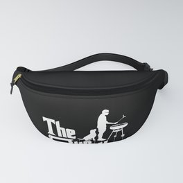 Mens The Grillfather Funny BBQ Grilling graphic for Grill Master Fanny Pack