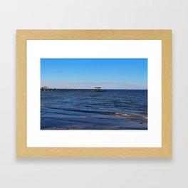 Bokeelia Blue Framed Art Print