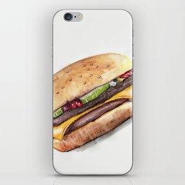 Color pencil Hamburger iPhone Skin