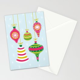 Vintage Christmas Ornaments Stationery Cards