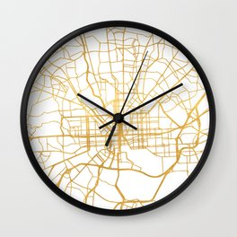 BALTIMORE MARYLAND CITY STREET MAP ART Wall Clock