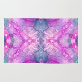 Hot Pink Watercolor Rug