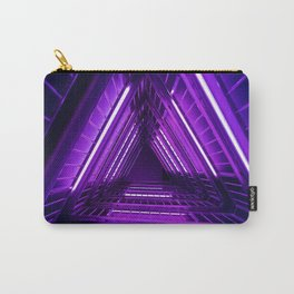Ultra Violet Triangle Stairs Carry-All Pouch
