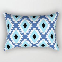 Aztec evil eye - blue Rectangular Pillow