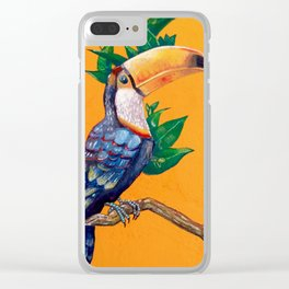 Beautiful Toucan Bird Painting Clear iPhone Case