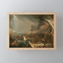 The Course of Empire Destruction - Cole Thomas Framed Mini Art Print