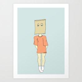 Paper Bag Days Art Print