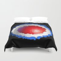 patriotic Duvet Covers featuring Patriotic  by C R Clifton Art