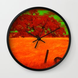 Sci-Fi Alien Countryside Wall Clock