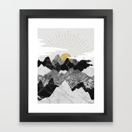 Sun rise Framed Art Print