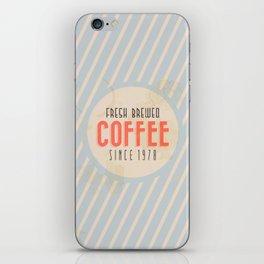 Fresh Brewed Coffee iPhone Skin