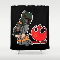 boba Shower Curtains featuring Boba Showers by Ant Atomic
