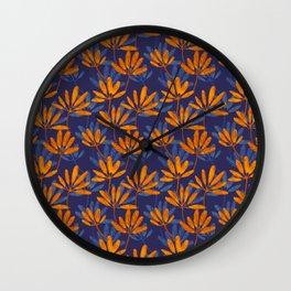 Frangipani leaves Wall Clock