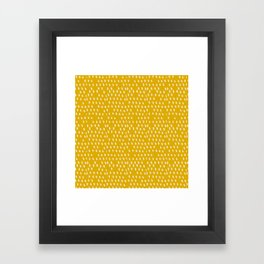 Yellow Modernist Framed Art Print