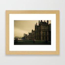 London Fog Framed Art Print