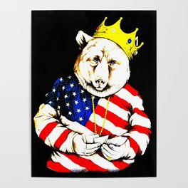 King Bear intense colour1 Poster
