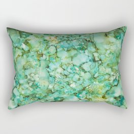 Green marble Rectangular Pillow