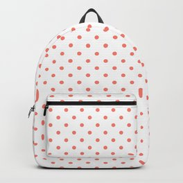 Dots (Salmon/White) Backpack