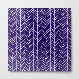 Plum - Hand Drawn Lines Metal Print