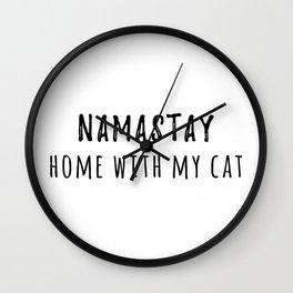 Namastay Wall Clock
