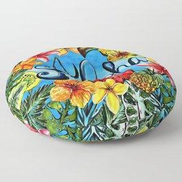Aloha - Tropical Flower Food and Animal Summer Design Floor Pillow