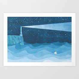 Lighthouse illustration Art Print